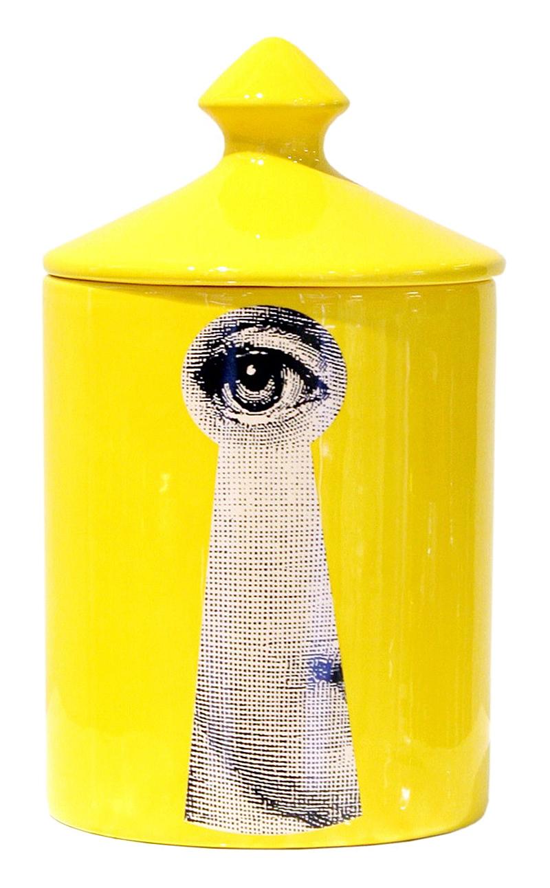 Подсвечник с крышкой Пьеро Форназетти Вacio Candle Yellow, DG-D-497