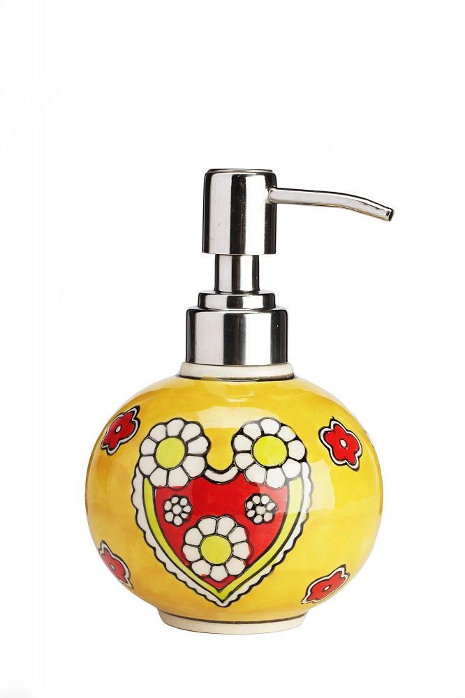 Дозатор для жидкого мыла Yellow Flowers цена 2016