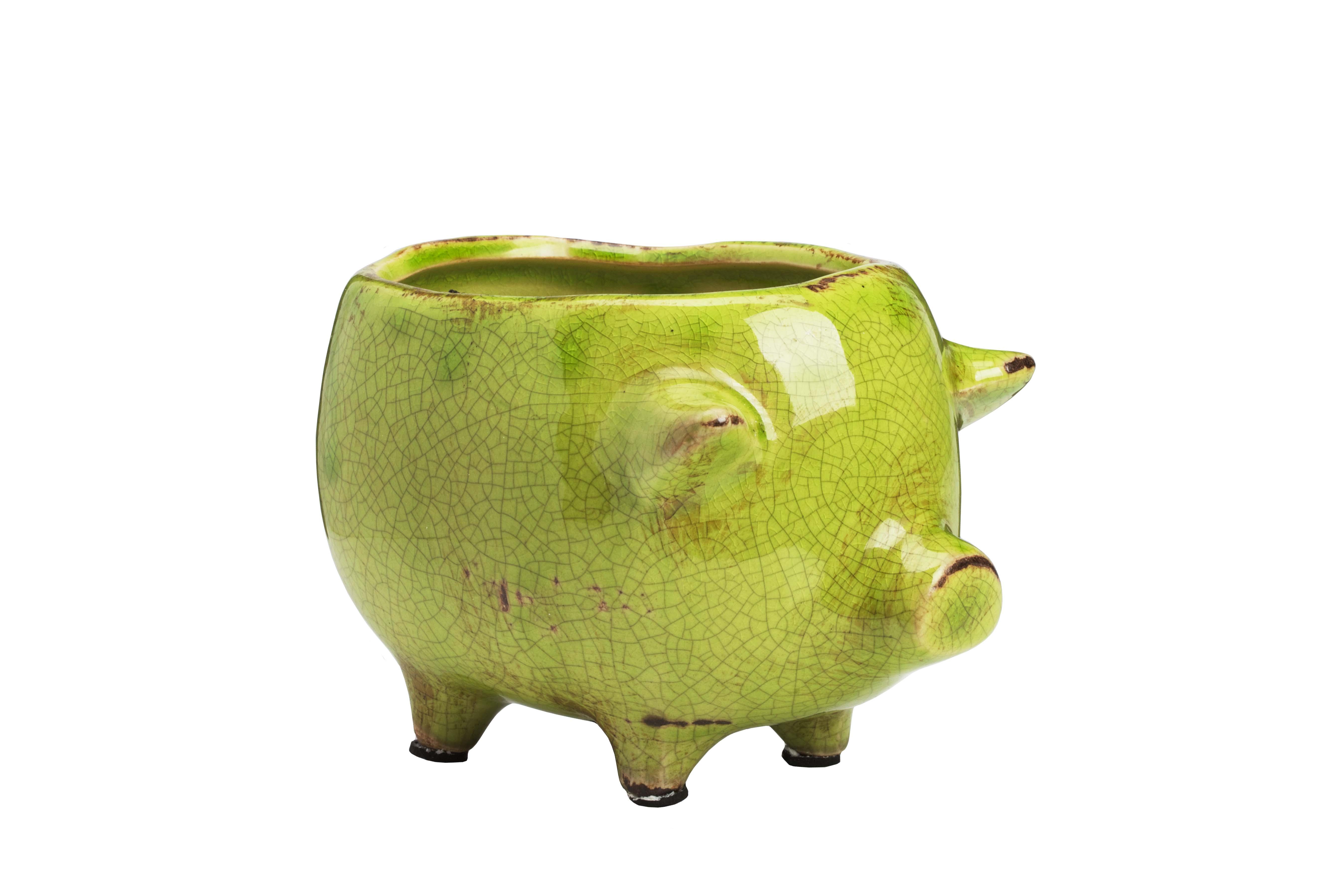 Фото Цветочный горшок Pig Planter Зеленый. Купить с доставкой