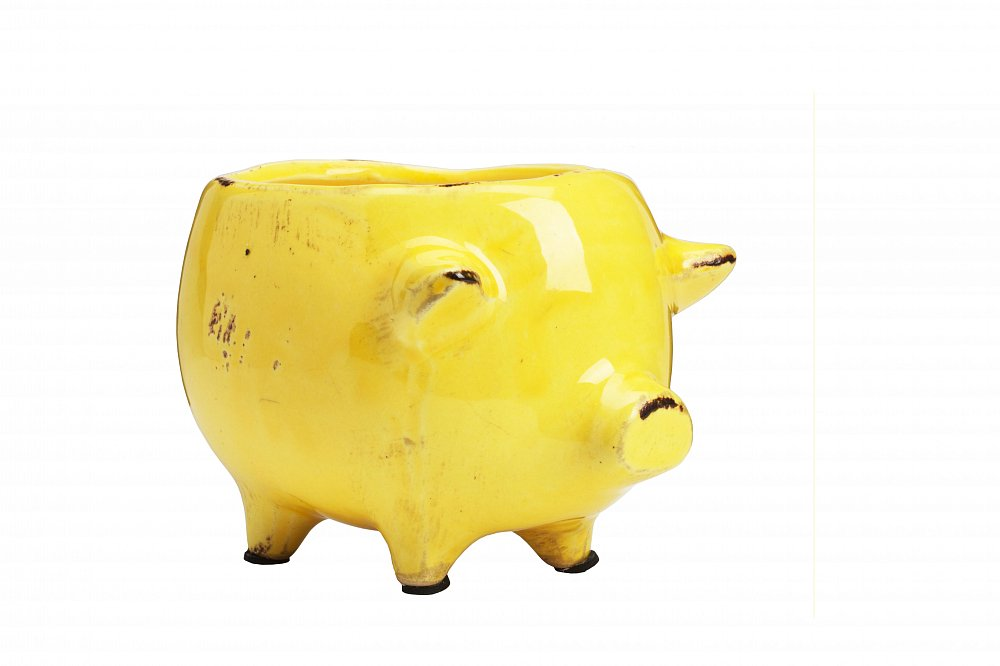 Цветочный горшок Pig Planter Желтый