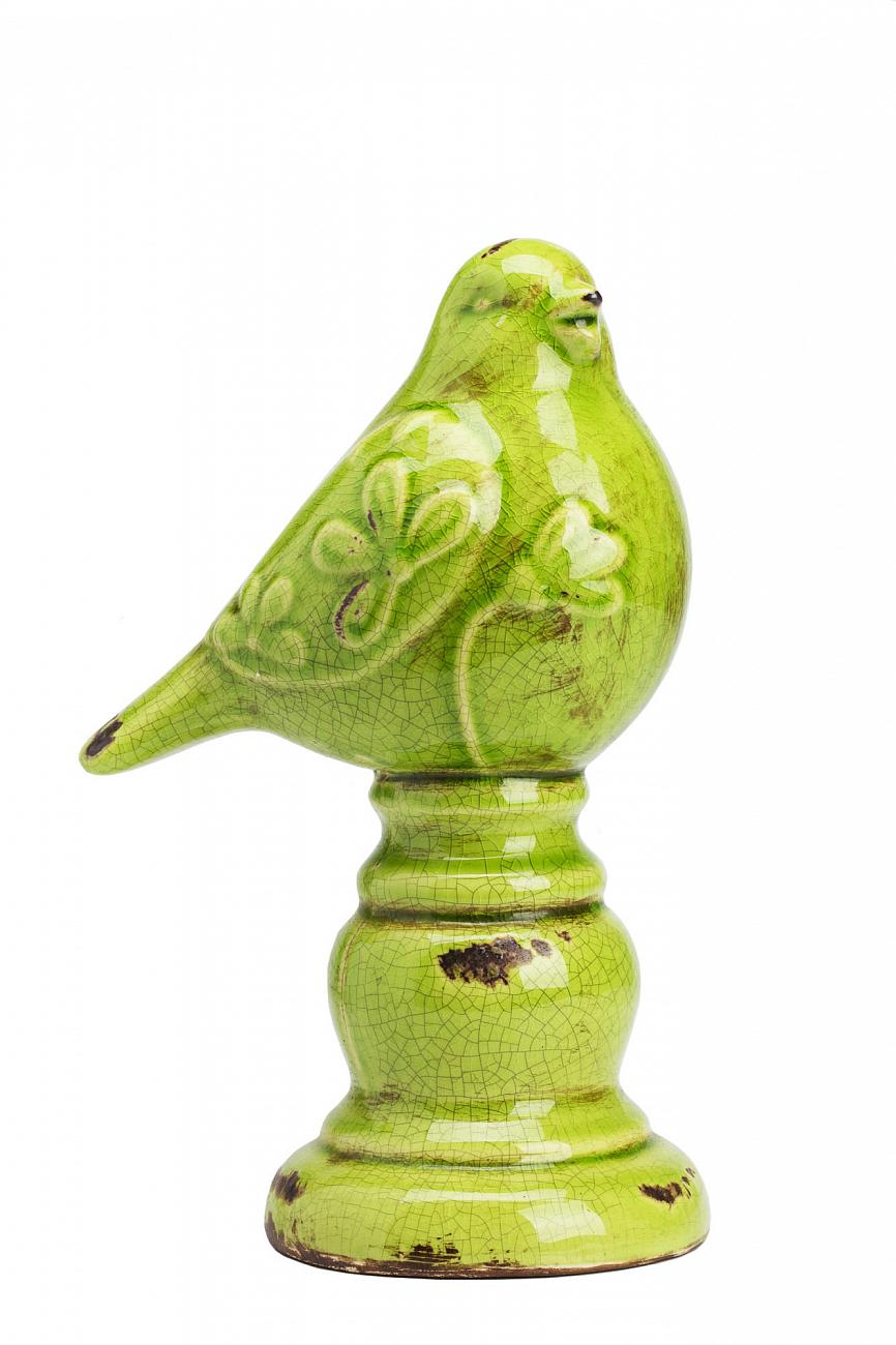 Купить Предмет декора статуэтка птичка на шаре Olive Bird on Sphere в интернет магазине дизайнерской мебели и аксессуаров для дома и дачи