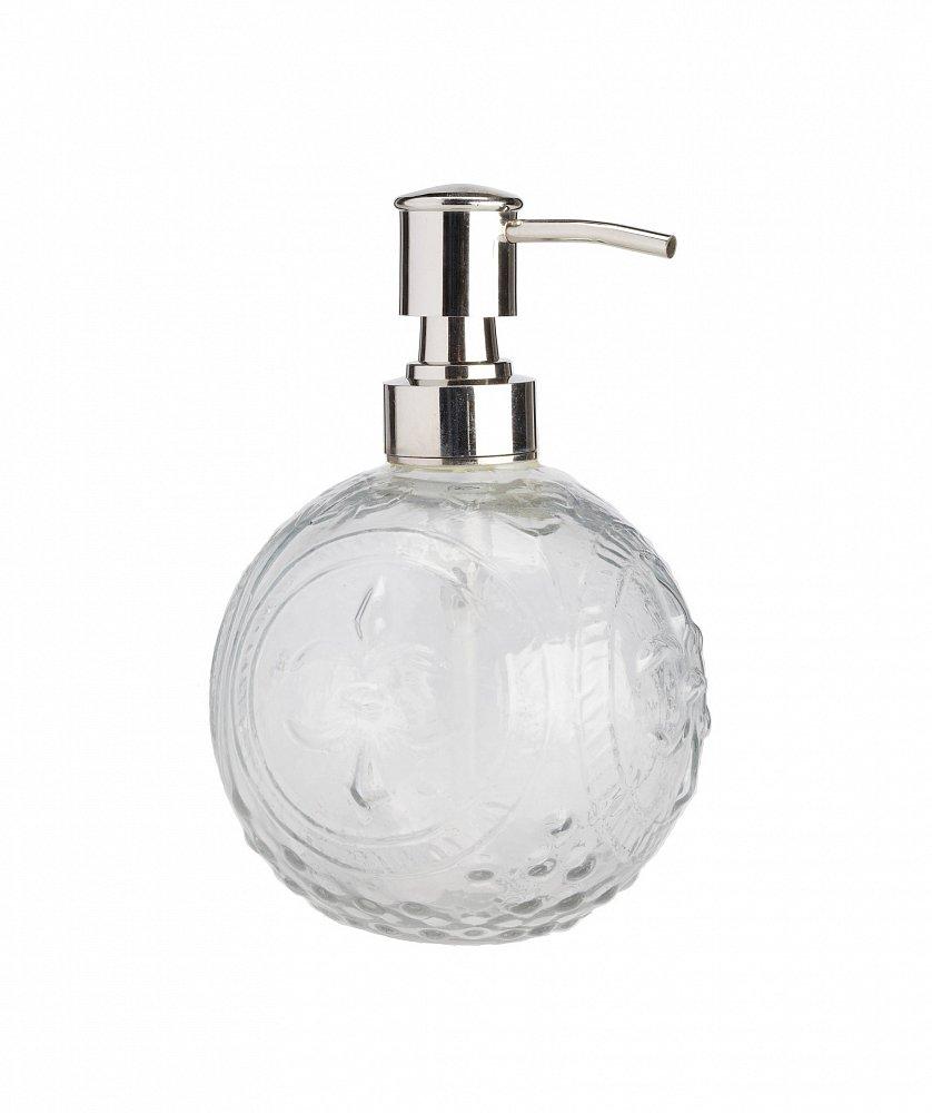 Дозатор для жидкого мыла EmbossedАксессуары для ванной<br>Дозатор для жидкого мыла Embossed — превосходное <br>решение для вашей ванной. Этот аксессуар <br>удобно использовать, достаточно перелить <br>в него жидкое мыло и легким нажатием выдавить, <br>при необходимости, нужное количество. Безупречная <br>форма и классический белый цвет сделают <br>его украшением любой ванной комнаты.<br><br>Цвет: Прозрачный<br>Материал: Стекло, Металл<br>Вес кг: 0,5<br>Длина см: 7,5<br>Ширина см: 7,5<br>Высота см: 15