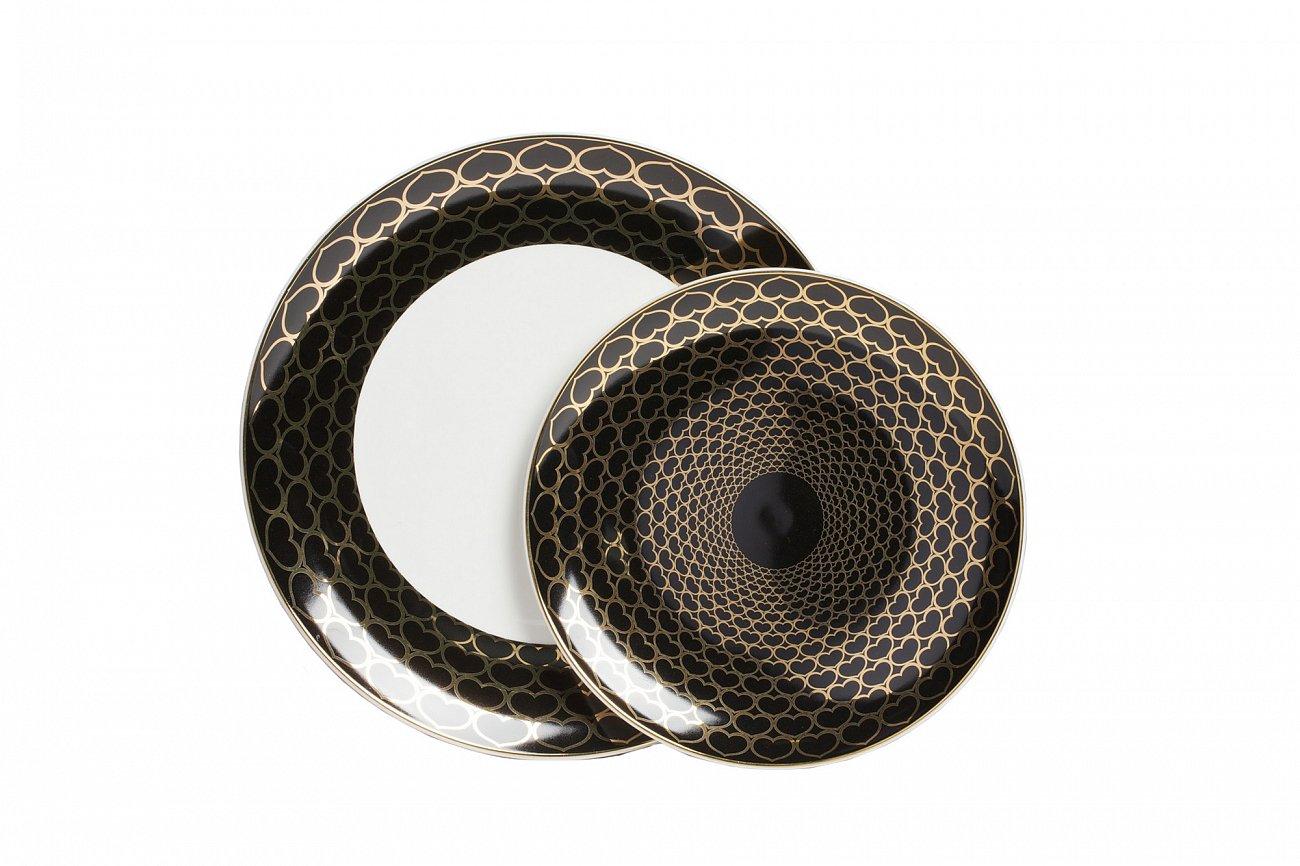 Купить Комплект тарелок Hearts Black в интернет магазине дизайнерской мебели и аксессуаров для дома и дачи