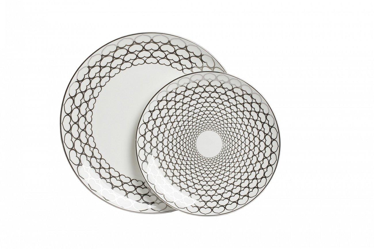 Купить Комплект тарелок Hearts White в интернет магазине дизайнерской мебели и аксессуаров для дома и дачи