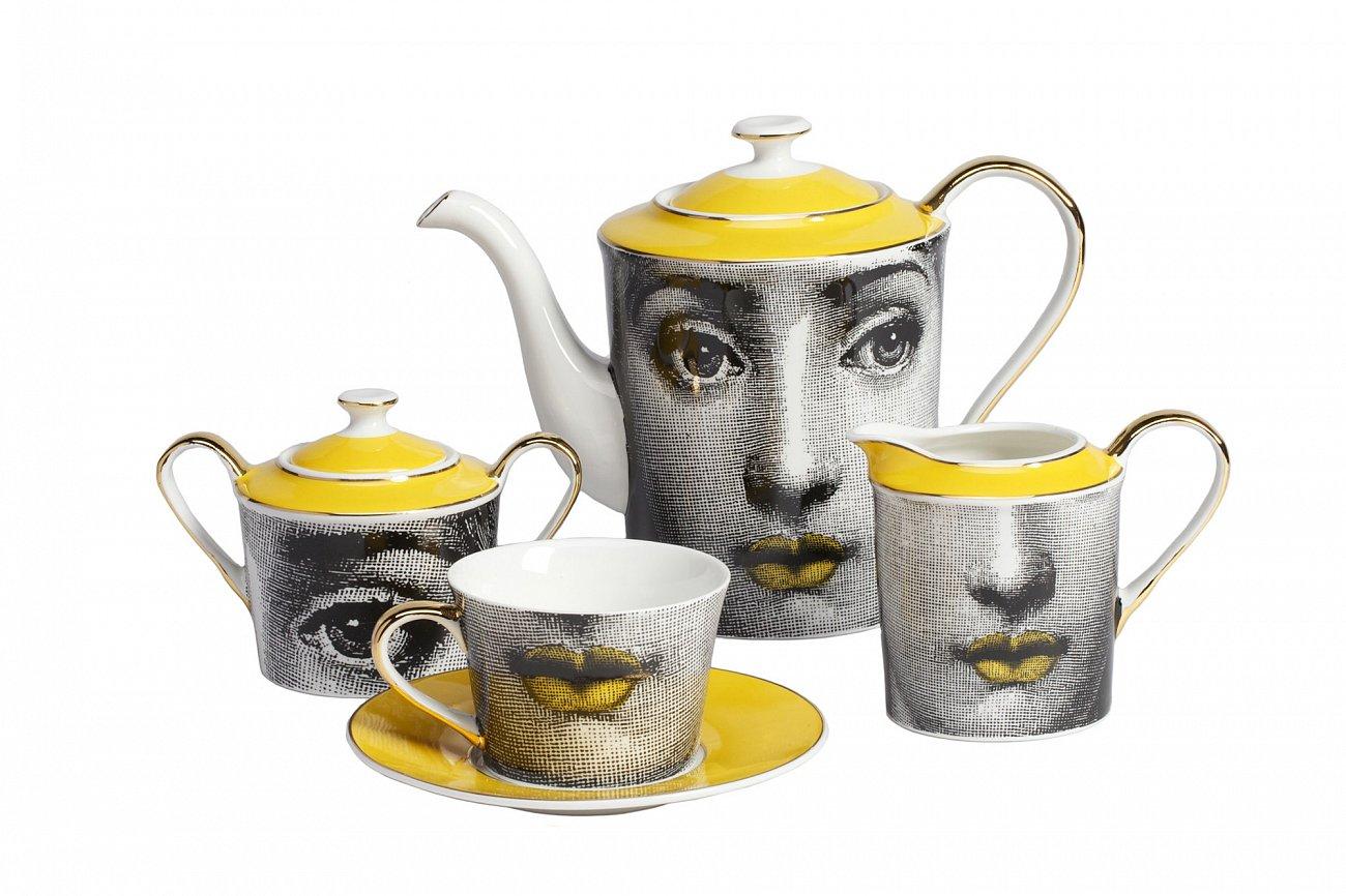 Купить Чайный сервиз Пьеро Форназетти Faces Amber в интернет магазине дизайнерской мебели и аксессуаров для дома и дачи