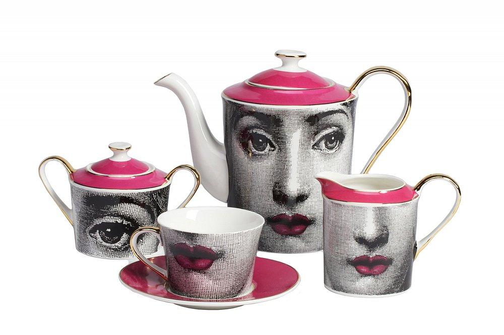 Чайный сервиз Faces Пьеро Форназеттиi Pink,  DG-DW103-11P от DG-home