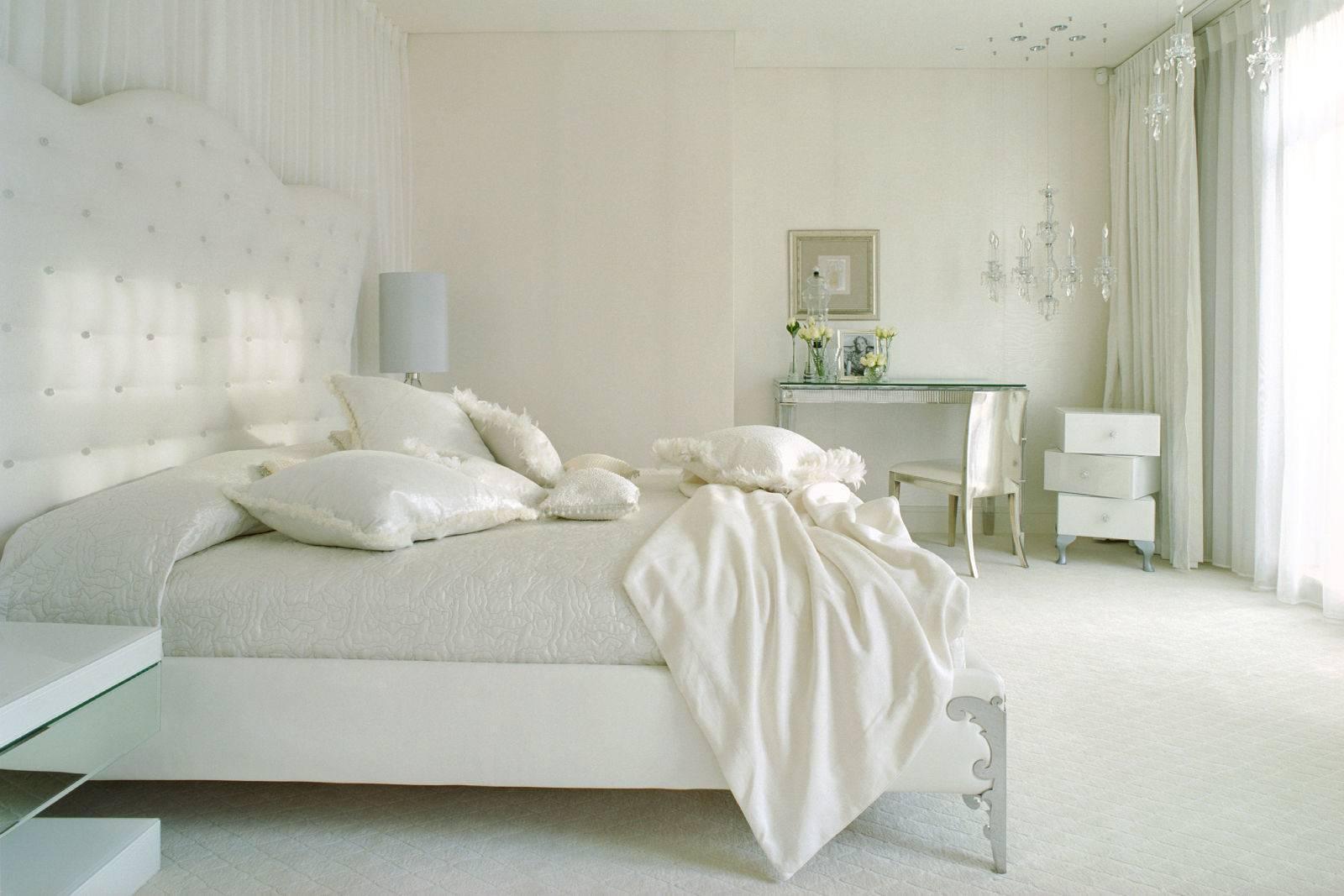 Спальни в белом цвете фото